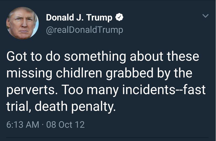 tt death penalty pedophilia