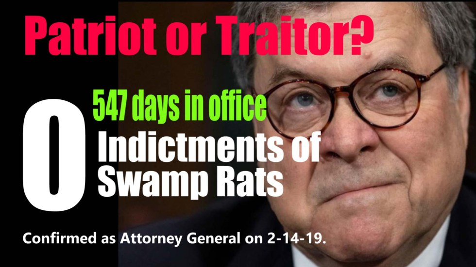 Bill Barr 547 days no indictments