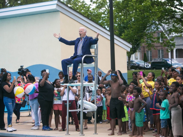 biden at pool
