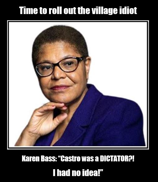 karen bass village idiot