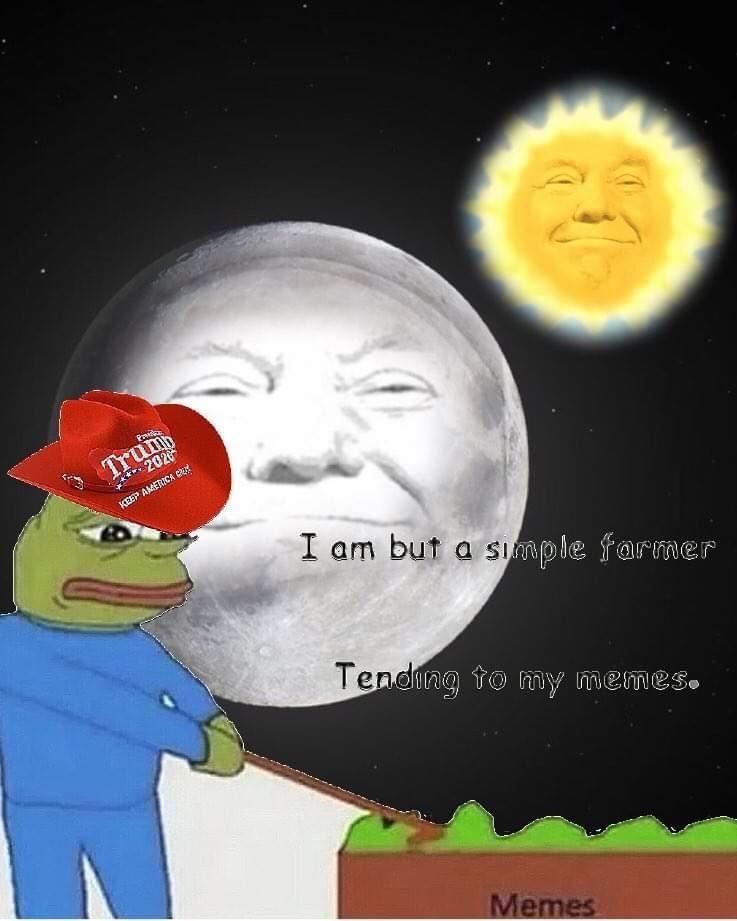 trump moon sun meme farmer pepe