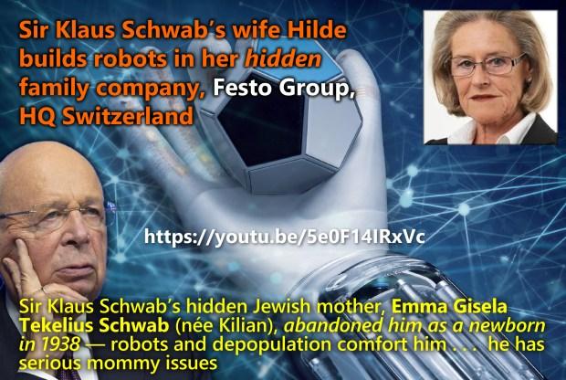 Sir Klaus Schwab's wife Hilde builds robots in her hidden family company, Festo Group, HQ Switzerland