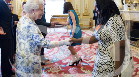 HRH Queen Elizabeth and Anne-Marie Imafidon