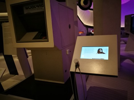 My vocals are on the ATM exhibit at the Science Museum's new Mathematics Gallery in London. You have 25 years to go and see it.