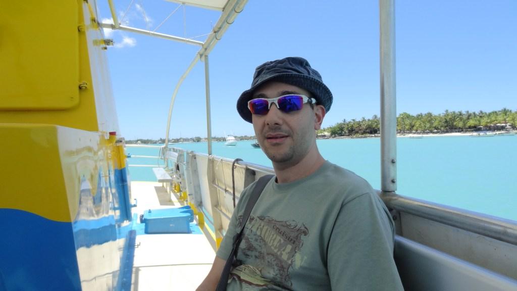 aiman at boat