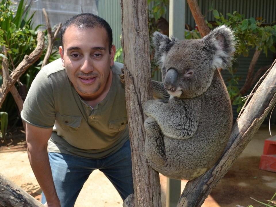 aiman with koala