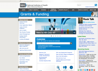 NIH website for grant applications and funding.