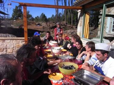 Séchoir solaire - repas équipe