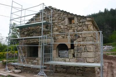 Restauration chapelle - échafaudage