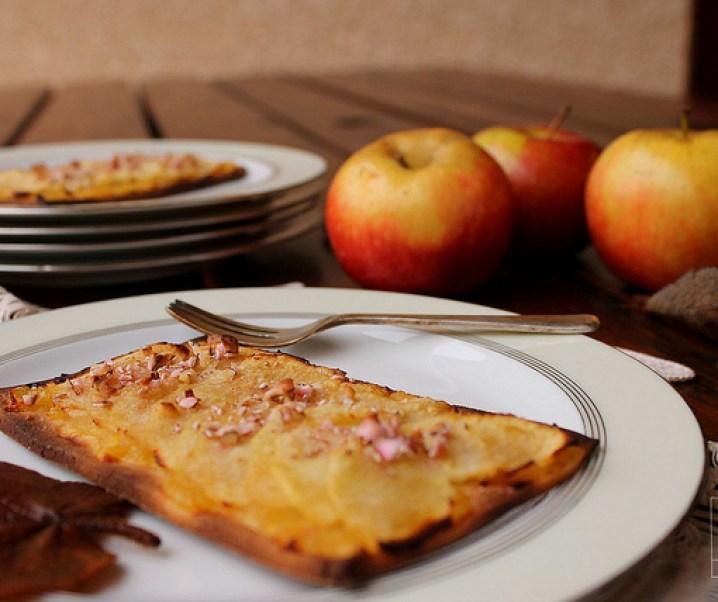 Tarte fine aux pommes et aux dragées