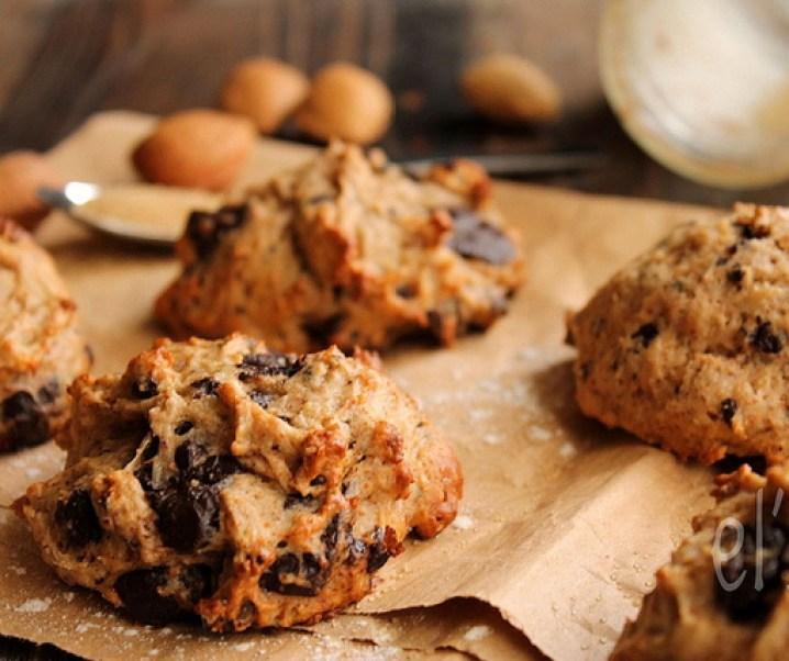 Cookies banane chocolat à la purée d'amande {vegan}