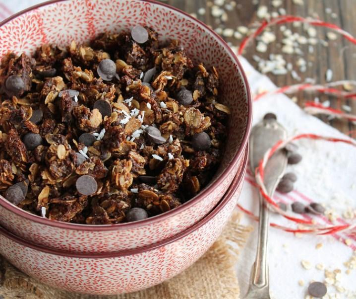 Granola chocolat et noix de coco