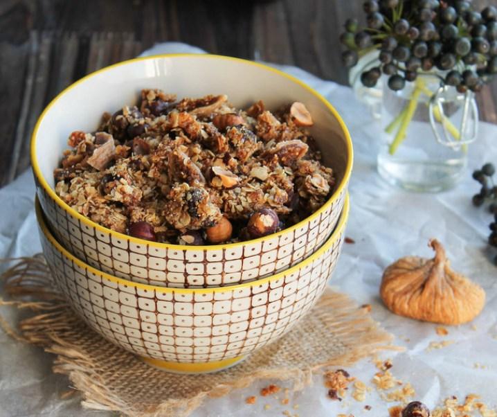 Granola noisette, figues et dattes