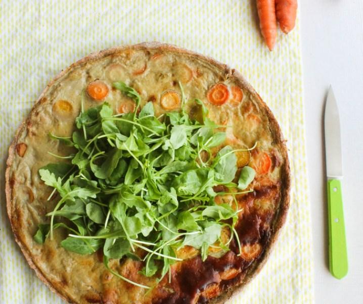 Tarte aux carottes {sans lait}