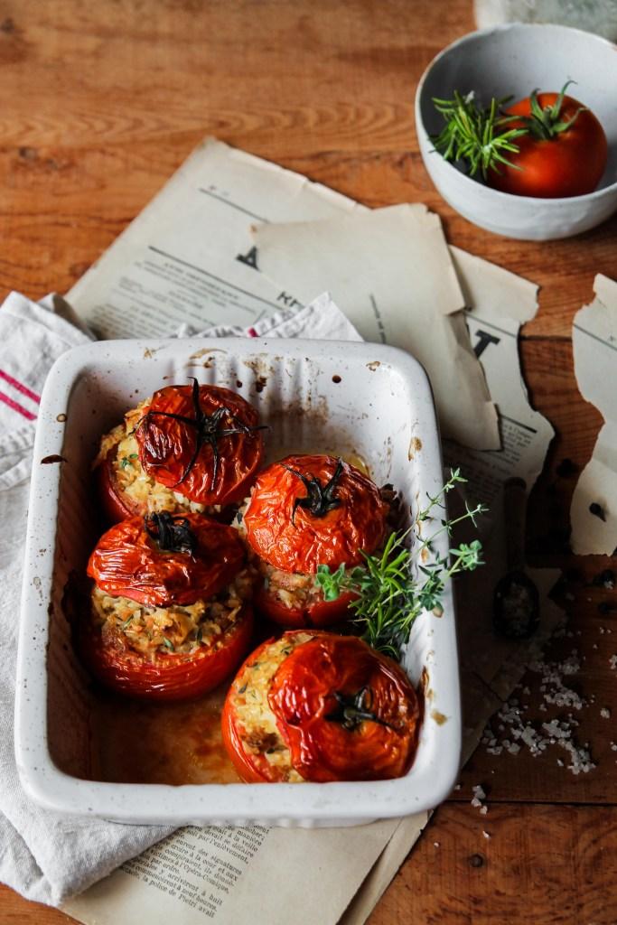 Gevulde tomaten {Vegan – glutenvrij}