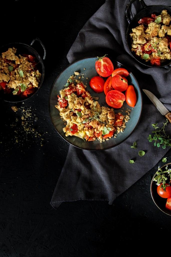 Crumble de tomates {Vegan – glutenvrij}