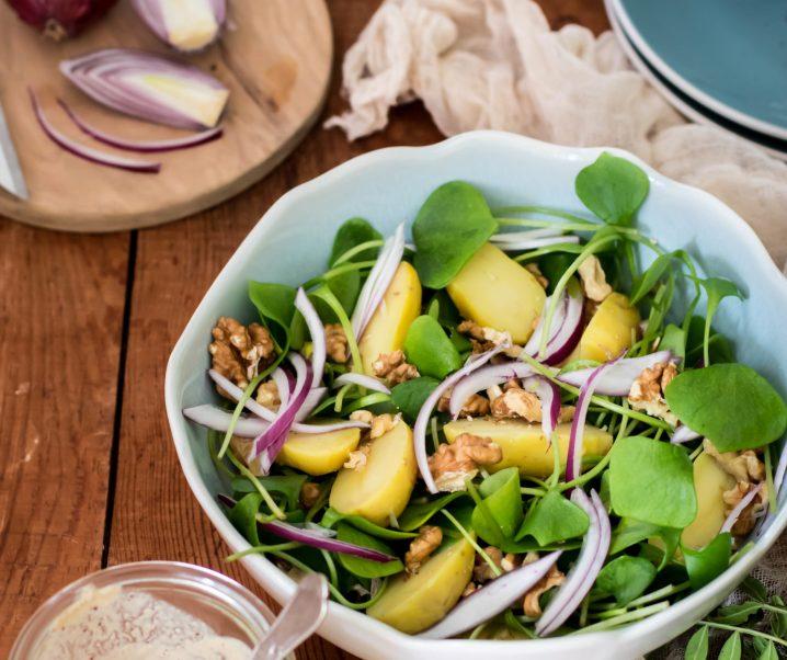 Salade de pourpier et pommes de terre {vegan – sans gluten}