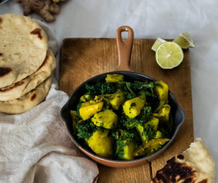 Aloo palak, curry d'épinards et pommes de terre {sans gluten – vegan}