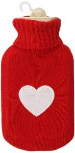 hot water bottle heart cover
