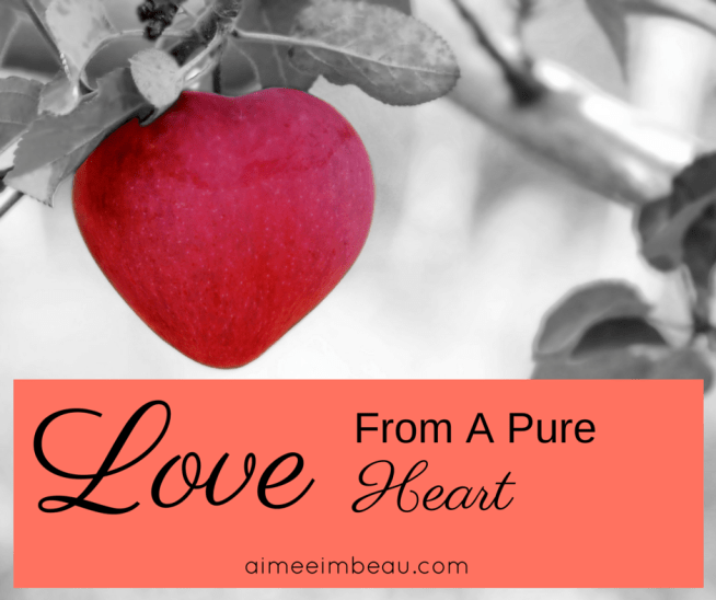 What does it mean to love from a pure heart?  How can we love like that and still be involved in idle talk?  I explore these questions in this post.