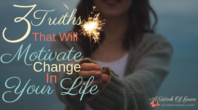 How are you at keeping those New Year's resolutions? Are you like me and don't even bother trying? I have some encouraging thoughts on the whole idea of those elusive resolutions. Let's trade resolutions for GRACE with 3 Truths That Will Motivate Change In Your Life!