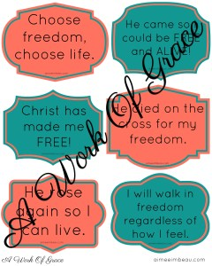 Quotes for freedom in Christ. Freedom cards. Free printable