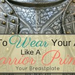 How To Wear Your Armor Like A Warrior Princess: Your Breastplate