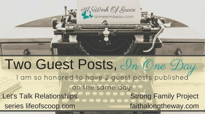It is always an honor to guest post for a friend...but two in one day is an extra blessing!