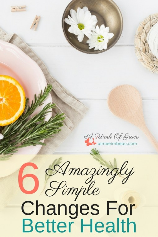 Change is never easy, especially if the modification is big. It can seem overwhelming ad daunting to tackle those kinds of changes. So I have shared some of the simple and small changes our family has made to get healthier. Here are my 6 Amazingly Simple Changes For Better Health