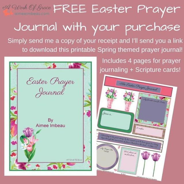 Free Easter prayer journal with any purchase of these Easterhellip