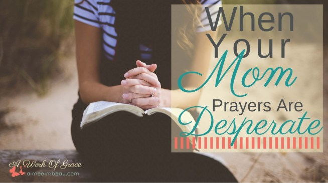 Have you ever thought that your desperate momma prayers were going unanswered, unheard or ignored? I know I have felt like that at times. Then I read about another momma's encounter with Jesus and I knew…I just knew…that He does hear my prayers. He is working things out on my behalf…and my child's behalf. I want to share with you what I learned When Your Mom Prayers Are Desperate