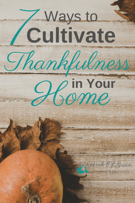 Having a heart of thankfulness promotes peace, joy, and contentment in your life and in your home. Here are 7 Ways to Cultivate Thankfulness in Your Home.
