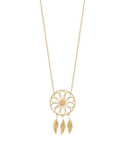 Collier Hannah plaqué or 3 microns étoile et plumes Aimée Private Collection tendance influenceuse bijoux fantaisie