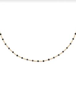 Collier Bonnie plaqué or 18K 3 microns avec perles Aimée Private Collection tendance, bijoux fantaisie mode
