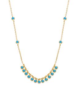 Collier Sea plaqué or 18K 3 microns avec turquoises Aimée Private Collection tendance influenceuse bijoux fantaisie mode