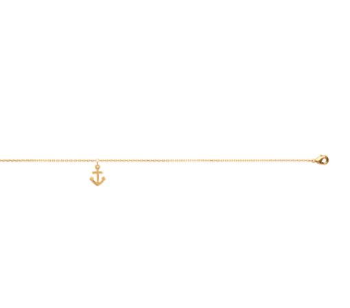 Chaine de cheville Yoka plaqué or 18k 3 microns ancre Aimée Private Collection nouveau modèle influenceuse tendance élégance belle bague