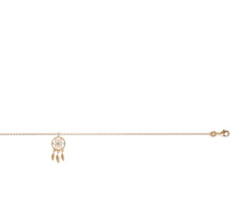 Chaine de cheville Hannah plaqué or 18K 3 microns pendentif Aimée Private Collection nouveau modèle influenceuse tendance élégance belle bague