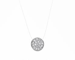 Collier Ibi argent 925 rhodié pendentif rond Aimée Private Collection tendance influenceuse bijoux fantaisie mode