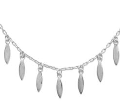 Collier Palmy argent 925 rhodié Aimée Private Collection tendance influenceuse bijoux fantaisie