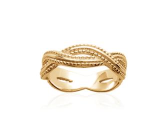 Bague Baoli en plaqué or 18k 3 microns Aimée Private Collection nouveau modèle influenceuse tendance élégance bijoux fantaisie