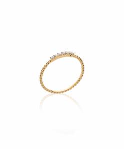 Bague Tao en plaqué or 18k 3 microns serti diamants en oxyde de zirconium Aimée Private Collection nouveau modèle influenceuse tendance élégance