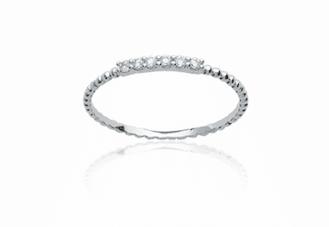 Bague Tao en argent 925 rhodié micro serti diamants en oxyde de zirconium Aimée Private Collection nouveau modèle influenceuse tendance élégance