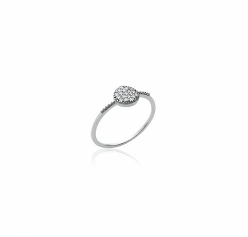 Bague Ibiza en argent 925 rhodié pavage diamants zirconium Aimée Private Collection nouveau modèle influenceuse tendance élégance belle bague