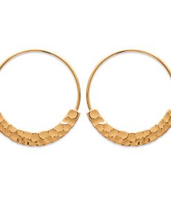 Boucles d'oreilles Timna créoles plates plaqué or 18K 3 microns Aimée Private Collection nouveau modèle influenceuse top tendance