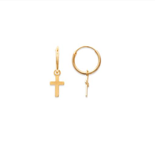 Boucles d'oreilles Jay croix plaqué or 18K 3 microns Aimée Private Collection nouveau modèle influenceuse top tendance