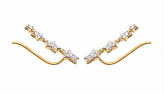 Boucles d'oreilles Star plaqué or 18K 3 microns micro serti Diamant Zirconium étoiles Aimée Private Collection nouveau tendance influenceuse