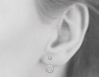 Boucles d'oreilles Ibi argent 925 serti Diamant Zirconium Aimée Private Collection nouveau tendance influenceuse