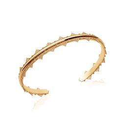 Jonc Reine plaqué or 18 carats 3 microns Aimée Private Collection bijoux tendances nouveau raffiné