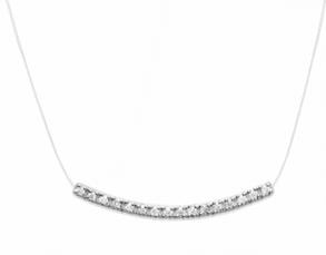 Collier Miley en argent 925 rhodié micro serti de diamants zirconium Aimée Private Collection élégant et raffiné tendance