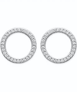 Boucles d'oreilles Colette en argent 925 rhodié micro serti de brillants Aimée Private Collection nouveau modèle influenceuse